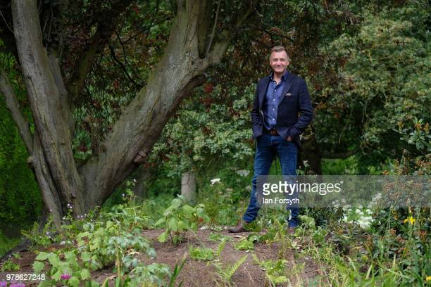 Garden designer Chris Beardshaw poses for pictures during a media event for the launch of the new arts and crafts style garden he has designed for...