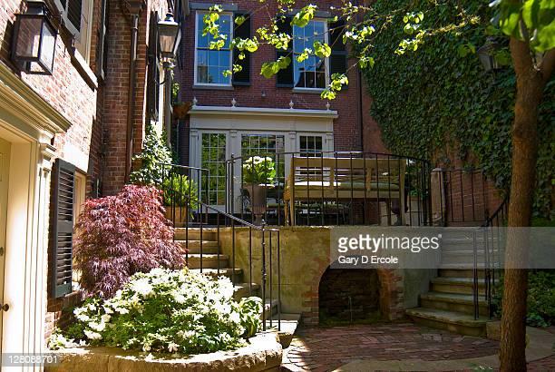 Garden entraceway of home, Beacon Hill, Boston, MA