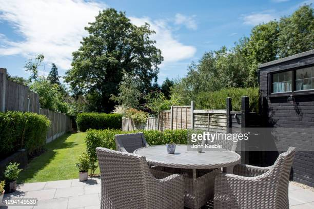 garden exteriors - garden stock pictures, royalty-free photos & images