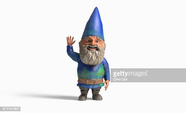 Garden gnome on white background