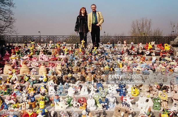 Garden Gnomes Exhibition in Bagatelle Park in Paris France in March 2000 Gunter Griebel Collector
