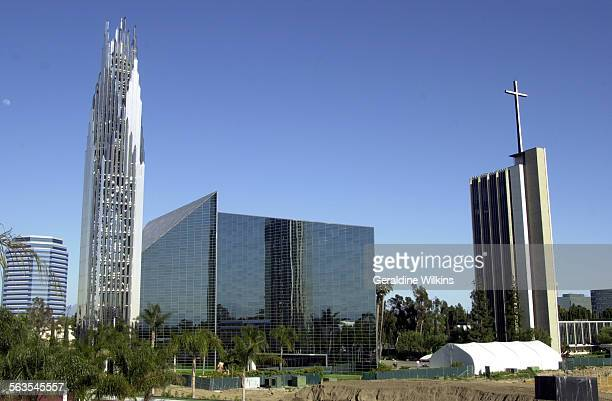 Garden Grove– left to right–– The Crean Tower, the Crystal Cathedral, the reservation, book & gift center and the Tower of Hope. Photo taken in front...