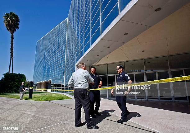 Garden Grove police secure the scene where a shooting took place this morning at the Crystal Cathedral, the popular Orange County megachurch. Two...