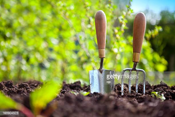 garden hand tools - gardening equipment stock pictures, royalty-free photos & images