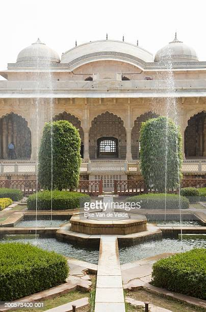 garden in amber fort - amber fort stock pictures, royalty-free photos & images