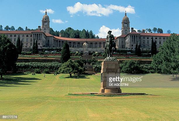 Garden in front of a government building Union Buildings Pretoria South Africa