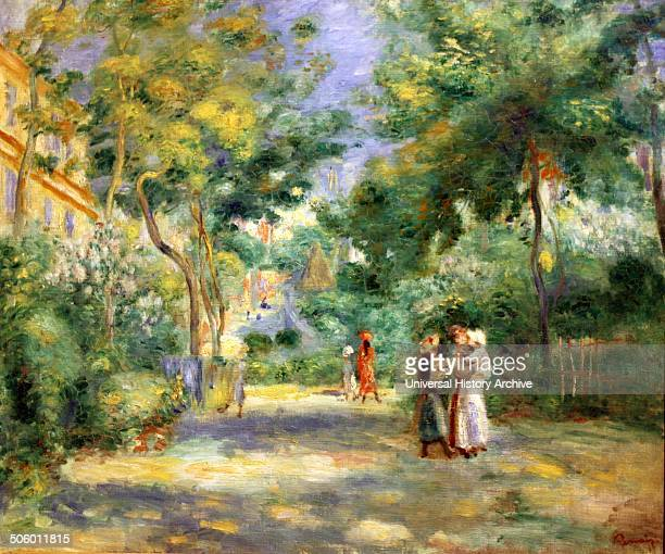A Garden in Montmartre by PierreAuguste Renoir oil on canvas signed by Renoir Renoir lived in Montmartre between 18901894