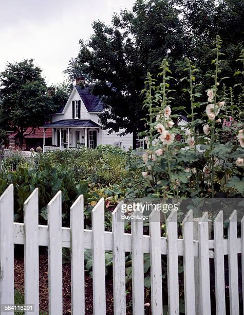 Garden in Old Salem a preserved early Moravian village in WinstonSalem North Carolina