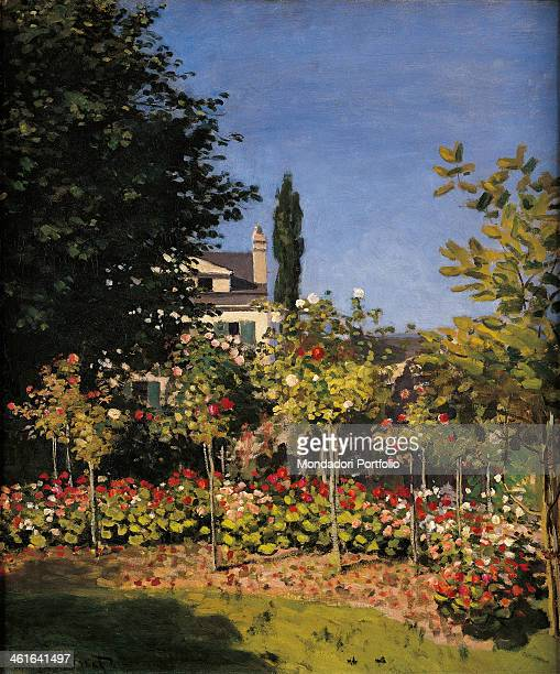 Garden in SainteAdresse by Claude Monet 19th Century oil on canvas France Paris Musée d'Orsay Detail In the background a house halfcovered by a tree...