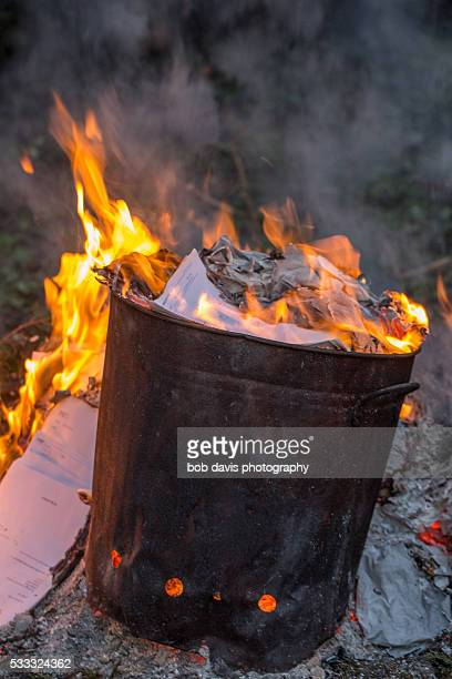 garden incinerator - incinerator stock photos and pictures