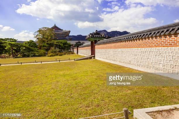 A garden inside Gyeongbokgung Palace