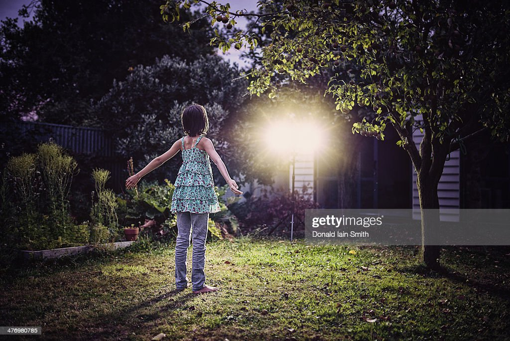 Garden Lights : Stock Photo