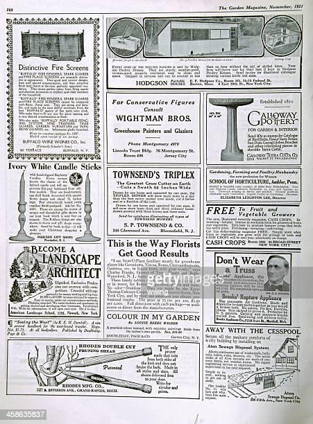 Garden Magazine Ads 1921