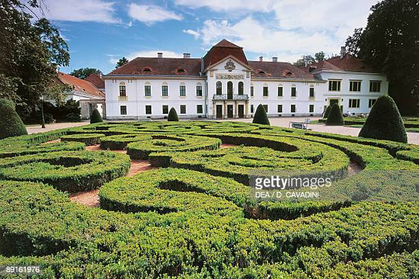 Garden maze in front of a castle Nagycenk Hungary