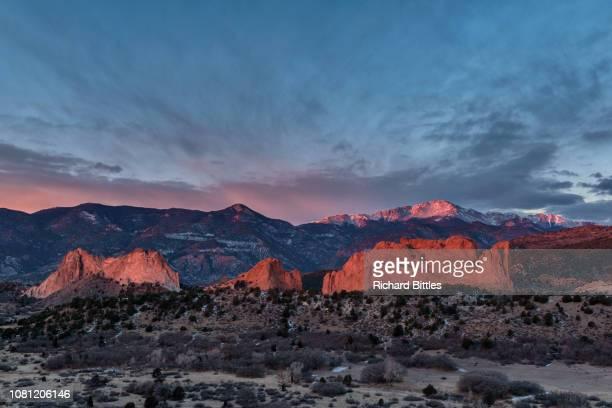 garden morning sun - colorado springs stock pictures, royalty-free photos & images