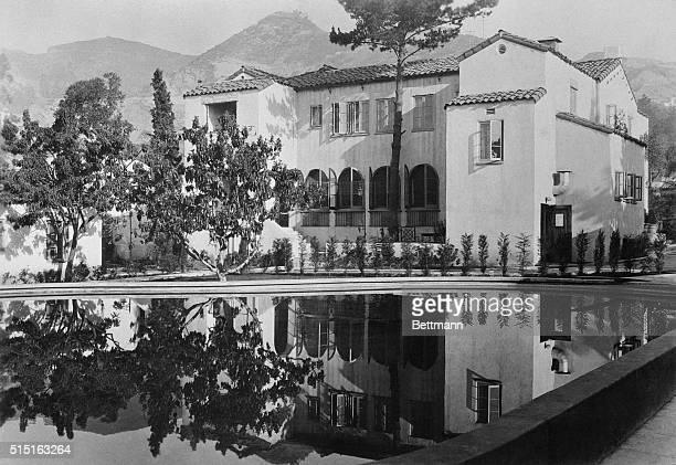 Garden of Allaresidential hotel on Sunset Boulevard former estate of Alla Nazimova