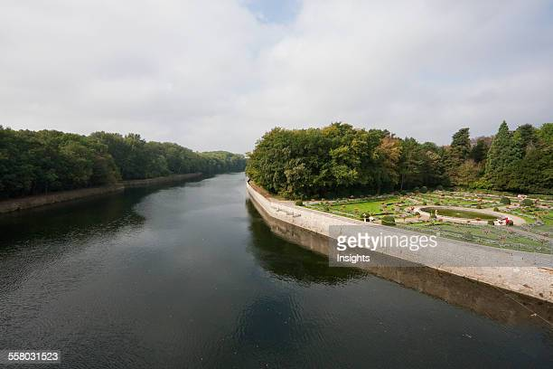 Garden Of Catherine De Medici By The Cher River As Seen From The Chateau De Chenonceau Chenonceau IndreEtLoire France