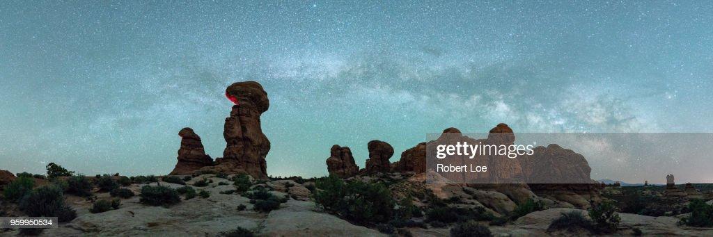 Garden of Eden Milky Way : Stock-Foto