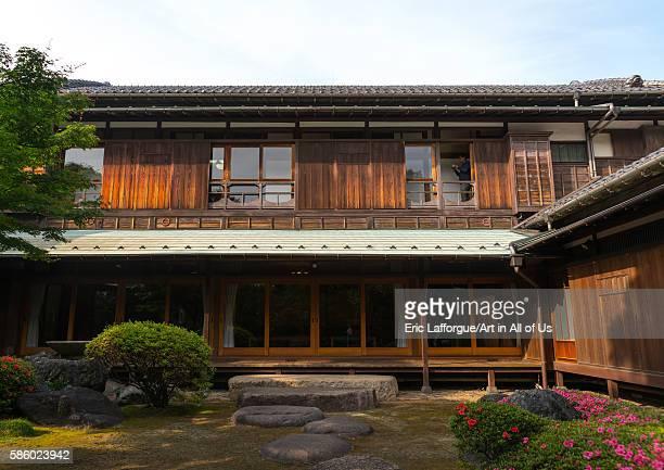 Garden of kyu asakura traditional japanese house from taisho era Kanto region Tokyo Japan on May 19 2016 in Tokyo Japan