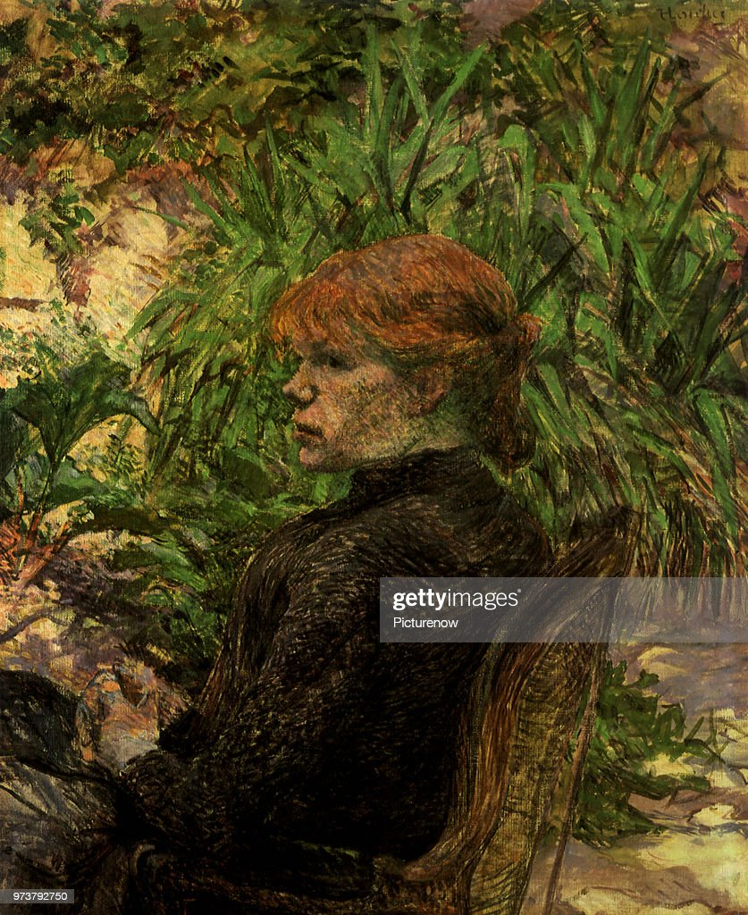 Portrait of a Woman Seated in the Garden of M. Forest Pictures ...