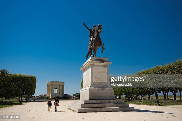 garden of peyrou - montpellier stock pictures, royalty-free photos & images