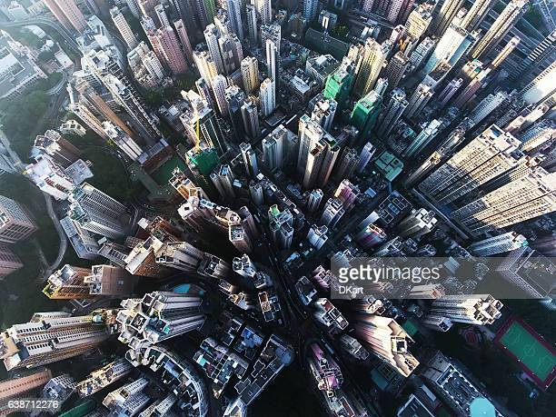 garden of stones in hong kong - aerial view stock-fotos und bilder