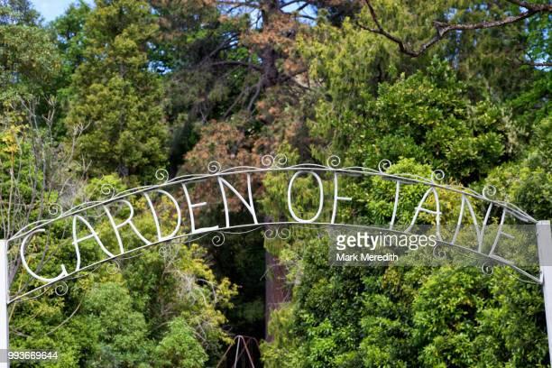 Garden of Tane entrance sign in Akaroa