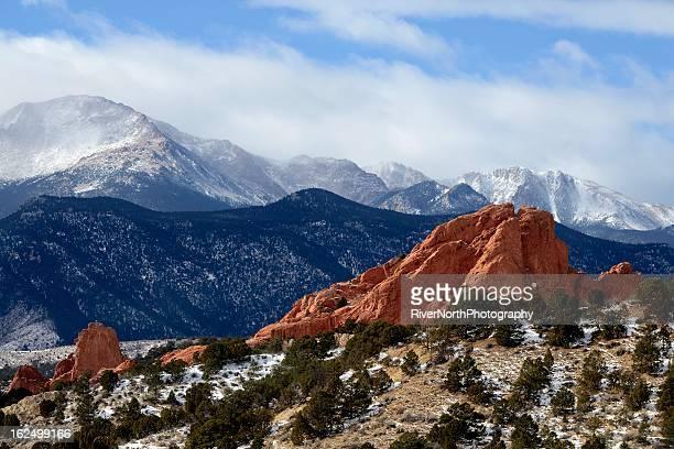 garden of the gods, colorado springs - colorado springs stock pictures, royalty-free photos & images