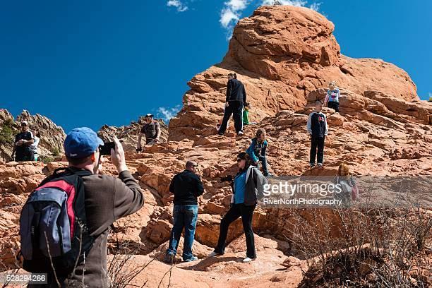 garden of the gods, colorado springs - garden of the gods stock photos and pictures