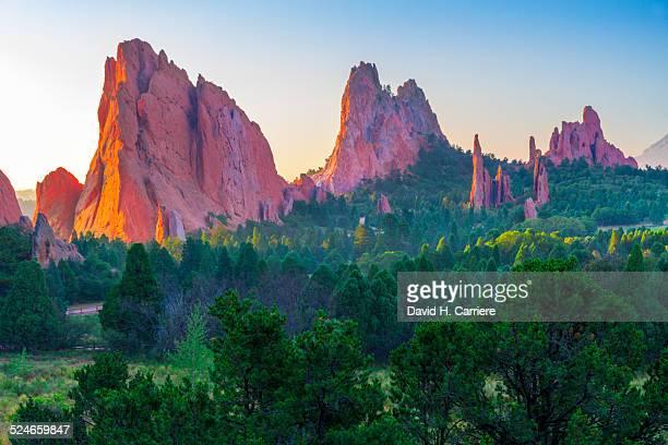 garden of the gods park, colorado springs,colorado - garden of the gods stock photos and pictures