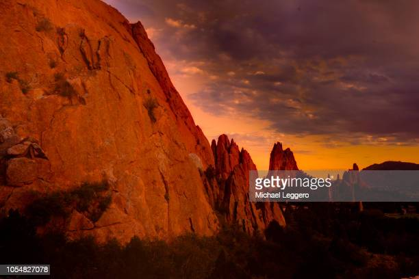 garden of the gods - red_rock,_nevada stock pictures, royalty-free photos & images