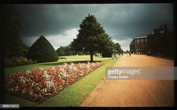 Garden on east front June 1965 Hampton Court England UK