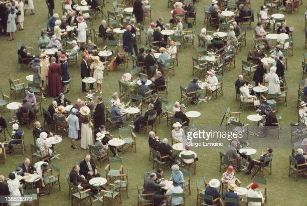 A garden party at Buckingham Palace London circa 1980