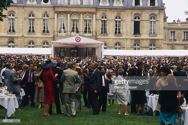 Garden Party at the Elysee Presidential Palace for Bicentennial of French Revolution