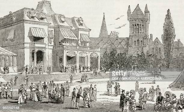 Garden party given by John Beverley Robinson LieutenantGovernor of Ontario Toronto Canada the British Association in Canada illustration from the...