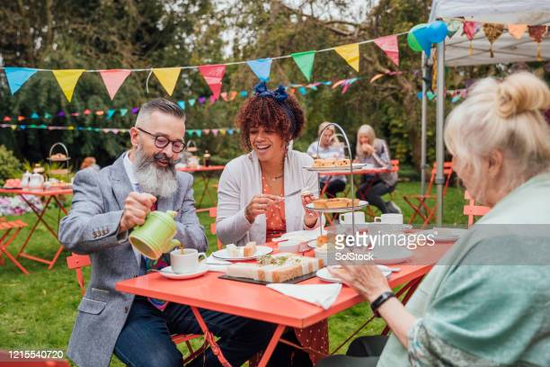 garden party - gala stock pictures, royalty-free photos & images