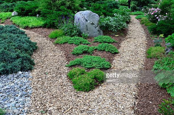Garden Path with Mulch