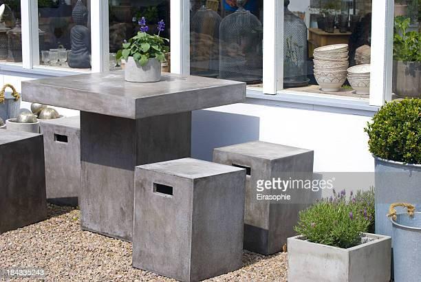 Garten und Terrasse-Möbel Beton