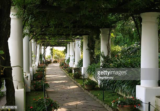 Garden Pergola at Villa San Michele, Capri, Italy.