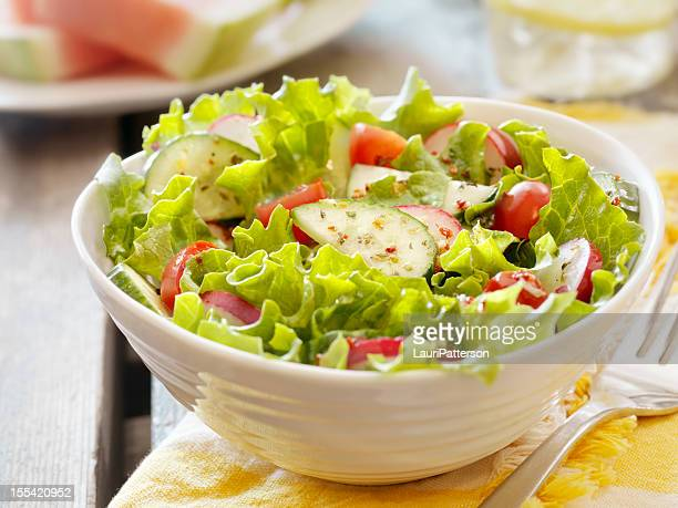 garden salad at a picnic - side salad stock pictures, royalty-free photos & images