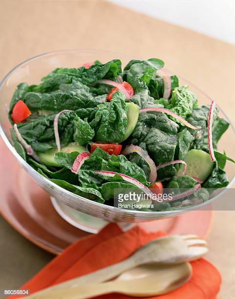 garden salad - green salad stock pictures, royalty-free photos & images