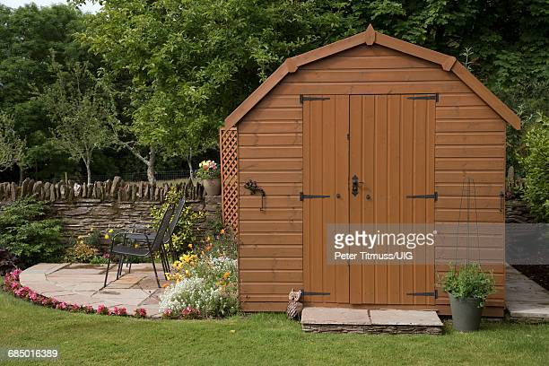 Garden Shed With Patio And Chairs