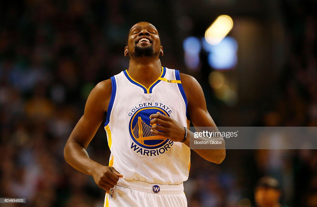 e7b2f28cfb0 Garden State Warriors Vs Boston Celtics At TD Garden. BOSTON - NOVEMBER 18  Garden  State Warriors Kevin Durant reacts to a foul called on him ...