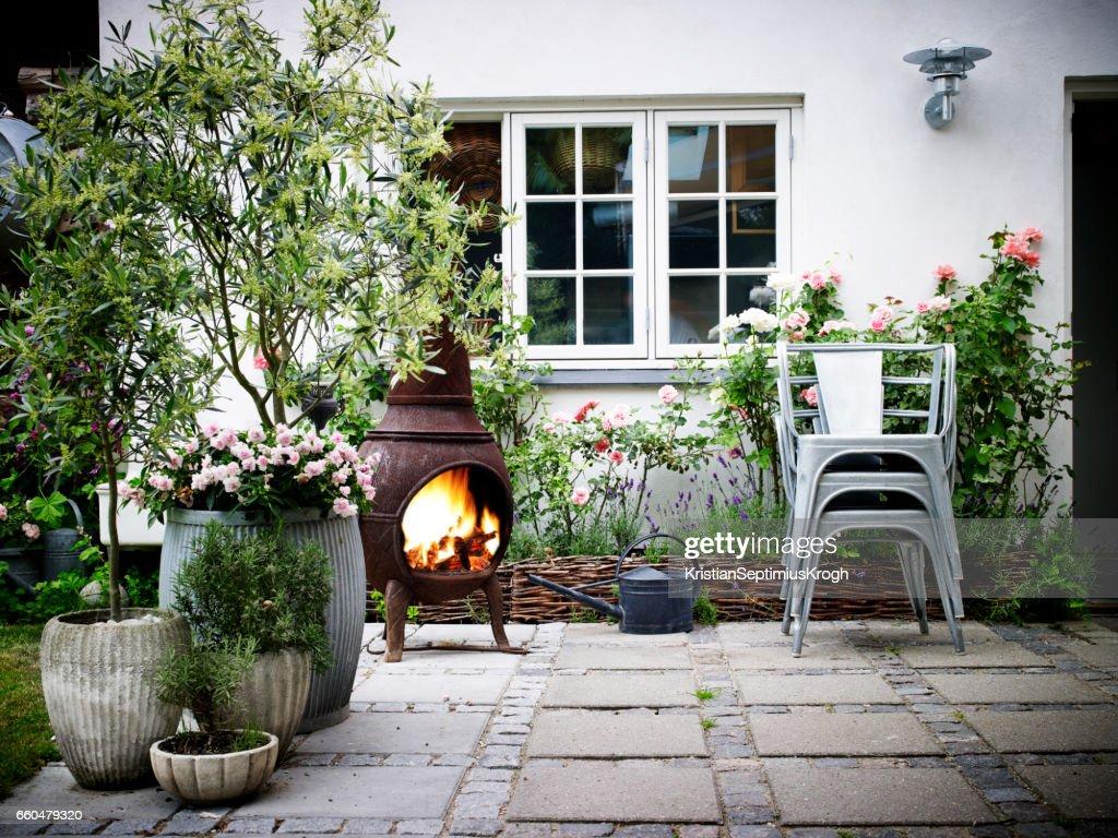 Garden Terrace : Stock Photo