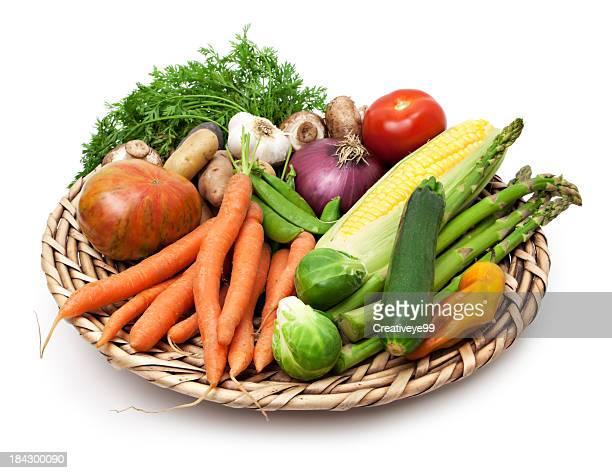 giardino di verdure - cestino foto e immagini stock