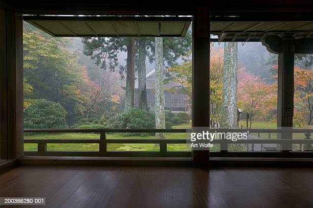 Garden view from tea house, Kyoto, Honshu, Japan