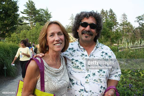 Garden volunteers and Boothbay Harbor residents Cathy Berger and Steve Berger, who works for party sponsor Knickerbocker Group. Staff photo