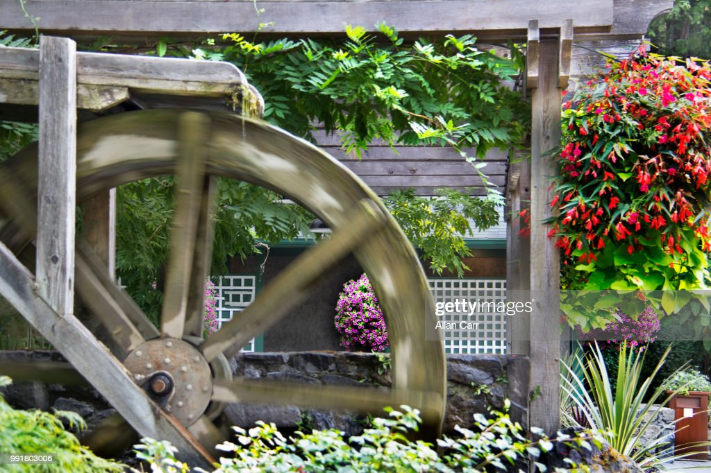 Garden Water Wheel : Stock Photo