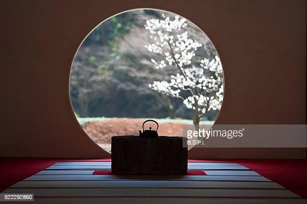 Garden Window at Meigetsu-in Temple in Kamakura, Japan