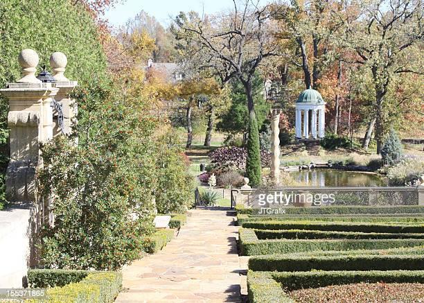 garden with gazebo - tulsa stock pictures, royalty-free photos & images